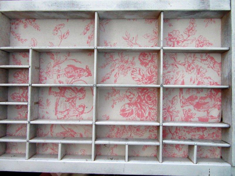 Image 5 of Printers Tray Shadow Box Shabby Chic Country Minis Display