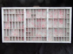 Printers Tray Shadow Box Shabby Chic Country Minis Display