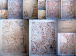 12 Maine Vintage Dept of Interior Geological Topographical Survey Maps