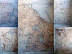 5 Massachusetts Vintage Dept. of Int. Geological Topographical Maps