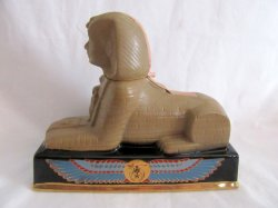 Ezra Brooks Sphinx Shriner Symbol Porcelain Liquor Whiskey Bottle