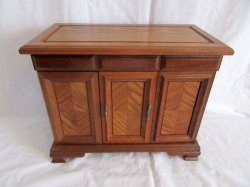 Large Oak Jewelry Box multi-sectional