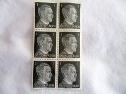 1944 Hitler Stamps Germany WWII Military Six Set
