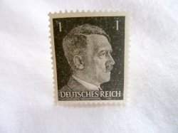 1944 Hitler Stamp Germany WWII Military
