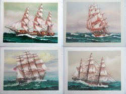 American Nautical Clipper Ships Prints by J O'H Cosgrave II