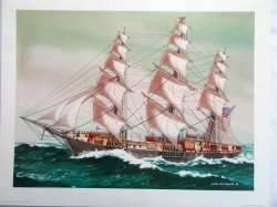 '.Clipper Ship Flying Cloud 1851.'