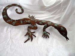 '.Metal Art Desert Lizard Gecko.'