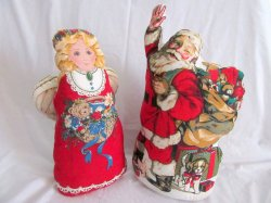 Stuffed Classic Santa Claus and Christmas Angel 18 In. Tall