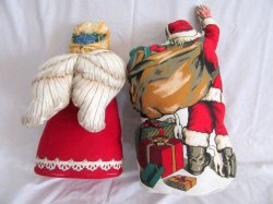 '.Stuffed Santa Claus & Angel.'