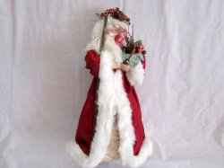 Old World Santa Father Christmas Decor 18 Tree topper or Centerpiece