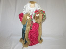 Old World Santa Clause Holiday Decor Tree Topper Centerpiece 18 Inch