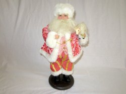 Old World Santa Figurine Mantle Centerpiece Holiday Christmas Decor 17 Inch