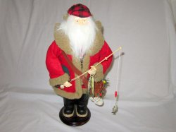Fisherman Country Santa Figure 19 Inch Holiday Christmas Decor