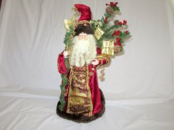 Musical Santa San Francisco Music Box Co God Rest Ye Merry Gentlemen 22 In.