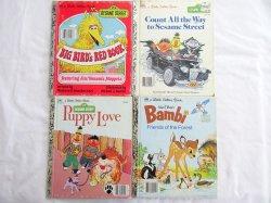 4 Children's Vintage Little Golden Books