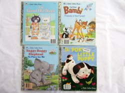 Four Little Golden Books Vintage Children's