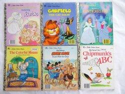 6 Vintage Children's Little Golden Books