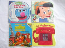 Children's Book Lot Golden Super Shapes, Disney & Sesame St. Vintage