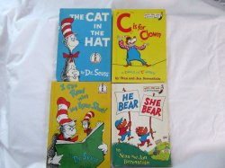 Dr. Seuss and Berenstain Vintage Bright & Early Reader Book Lot