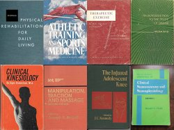 8 Physical Therapy Student Text Books