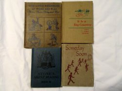 Antique Children's Book Lot Readers and Texts with Bonus Speller