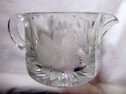 '.Heisey Glass Creamer.'