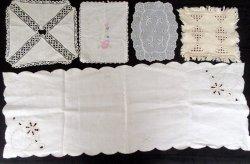 '.Linen Textile Doily Lot.'
