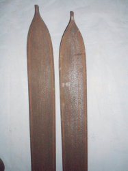 '.Antique Wood Snow Skis.'