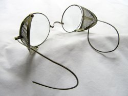 '.Antique Round Safety Glasses.'