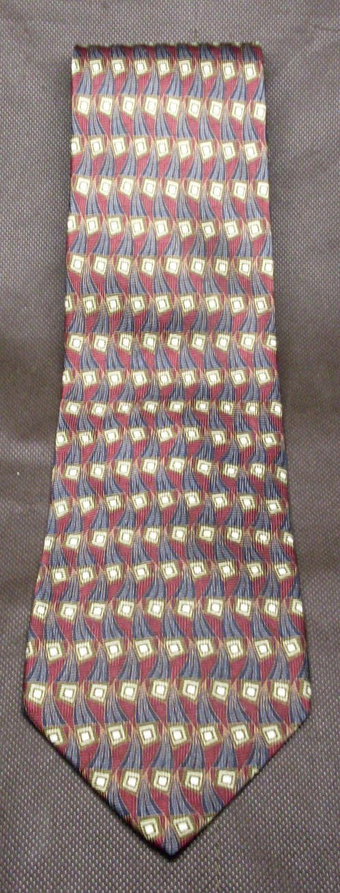 J.Z. Richards Mens Silk Necktie Burgundy