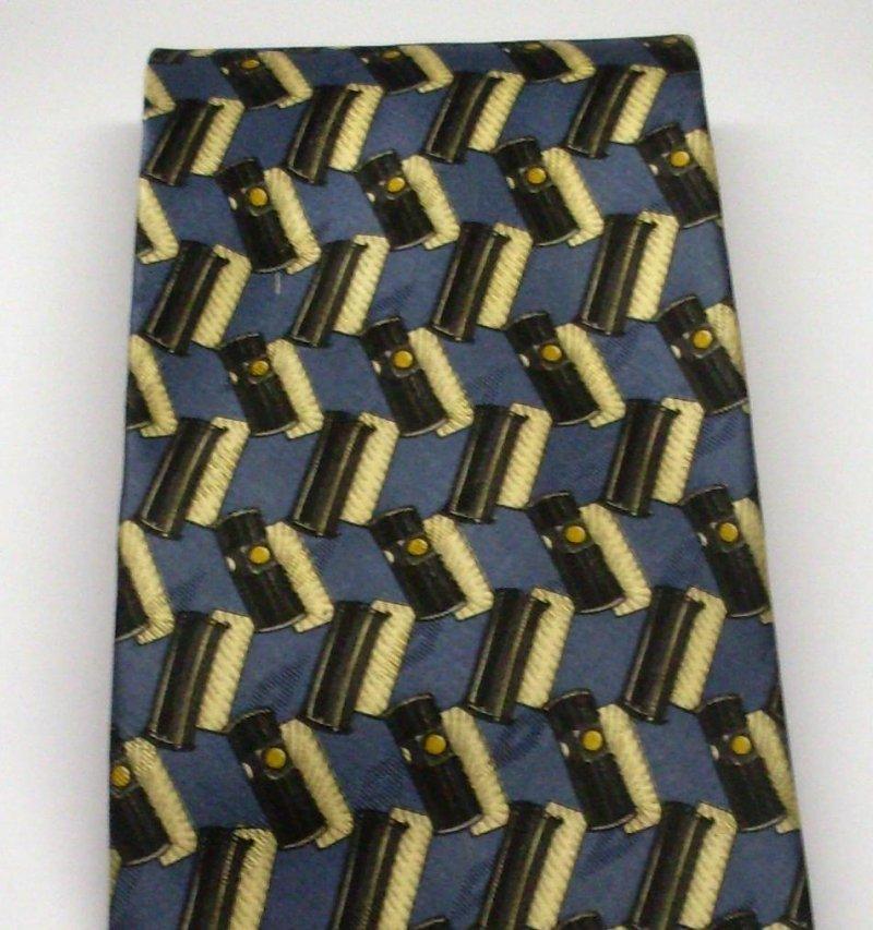 Valentino Cravatte Mens Silk Tie Necktie Navy Gold
