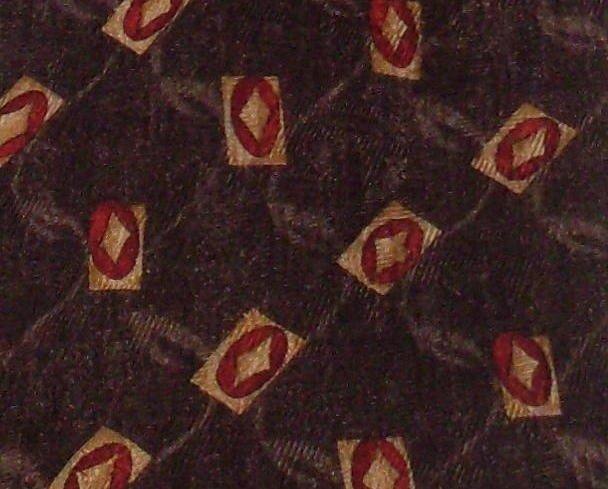 Robert Talbott Studio Mens Silk Necktie Tie Brown Print
