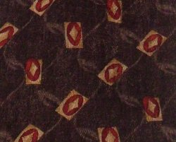 Robert Talbott Studio Mens Silk Necktie Tie Brown Print