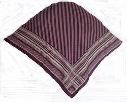 Liz Claiborne Striped Herringbone Print Scarf Eggplant 34 in