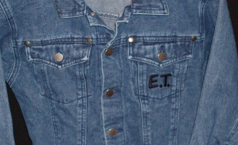 Childrens Denim Jean Jacket Small (7) E.T. Universal Studios