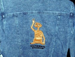 Childs Denim Jean Jacket Small 7 E.T. Universal Studios Embroidered