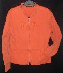 BCBG Maxazria Jacket Orange 34 Small Juniors Zip Front Stretch