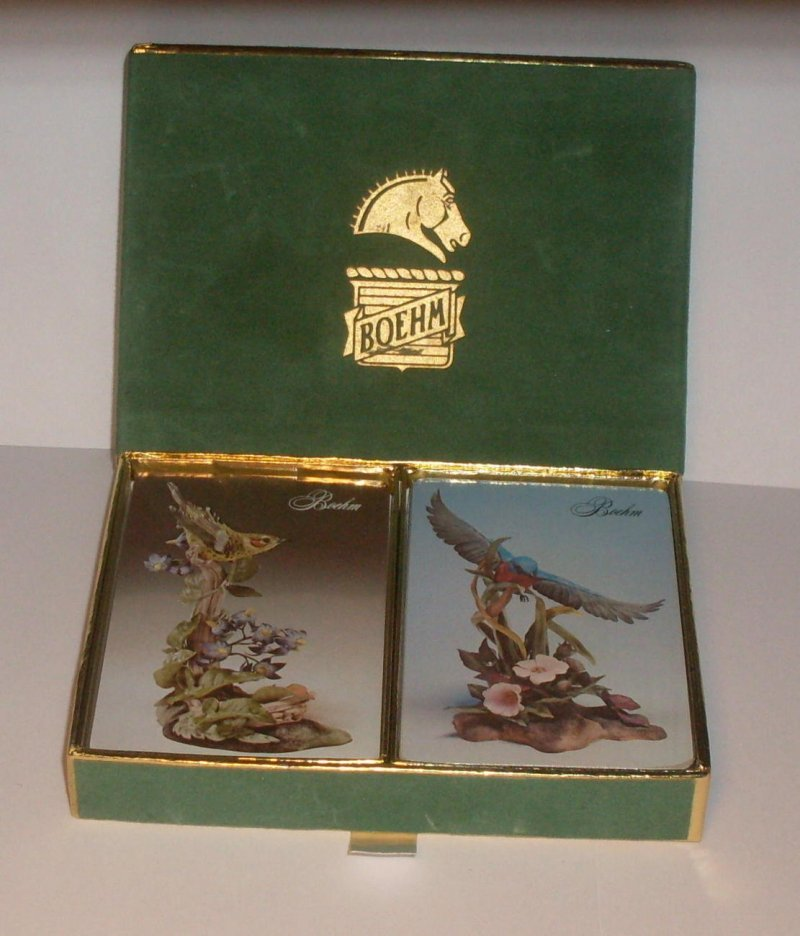 Double Deck Playing Card Set Boehme Vintage Collectible Sealed