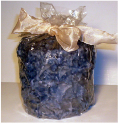 Frosted Pillar Cake Candle Baby Shower Blue Boy