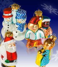 US Postal Service Hand Painted Glass Holiday Ornaments