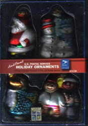 '.USPS Glass Holiday Ornaments.'