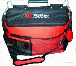Custom Tool Carrier and Cooler Multi Purpose Bag Red Black