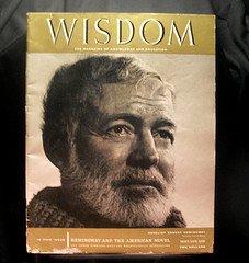 1958 Wisdom Magazine Volume 3 No 26 Ernest Hemingway