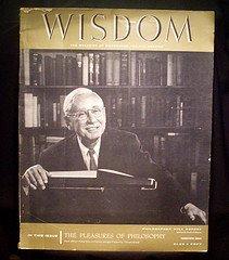 1958 Wisdom Magazine Volume 1 No 8 Will Durant 20th Issue