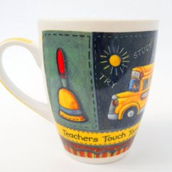 Teachers Touch Tomorrow Designer Gift Coffee Mug