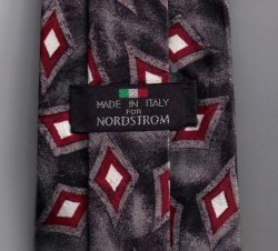 '.Nordstrom Mens Silk Tie Gray.'
