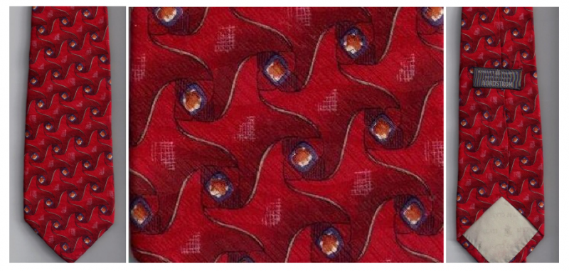 Robert Talbott Best In Class Mens Silk Tie Necktie Red Print