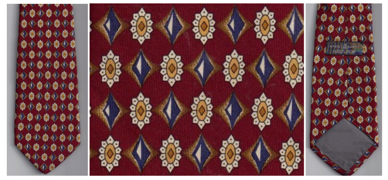 Robert Talbott Nordstrom Mens Silk Tie Necktie Burgundy