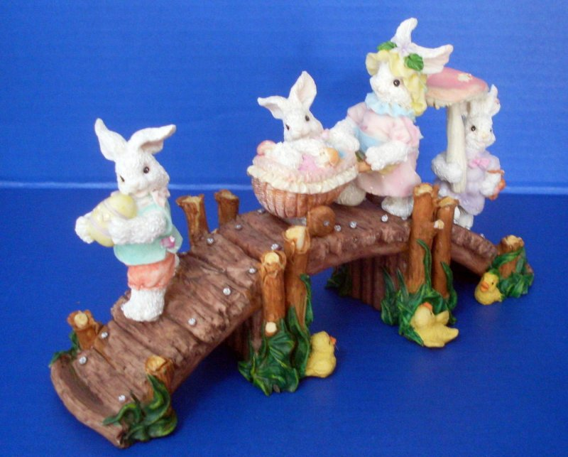 Easter bunny bridge holiday display decor for Home goods easter decorations