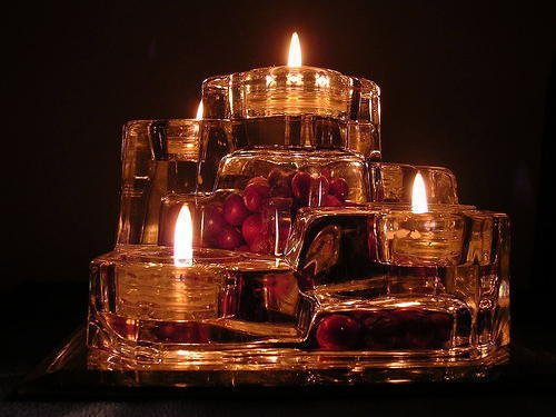 Partylite P7170 Crystal Castle 5 Tier Tealight Candle
